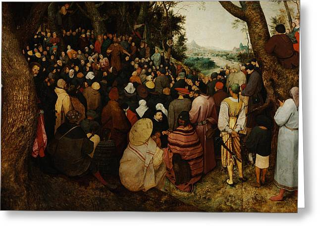 The Sermon Of Saint John The Baptist Greeting Card by Pieter Bruegel the Elder