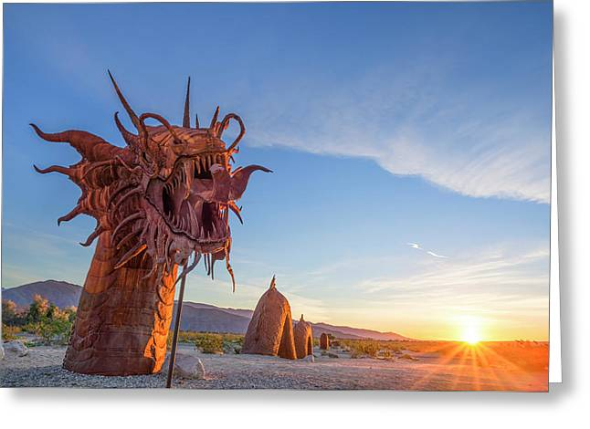 The Serpent At Sunrise Greeting Card