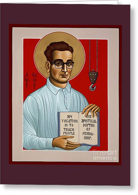 Greeting Card featuring the painting The Servant Of God Egide Van Broeckhoven Sj 051 by William Hart McNichols