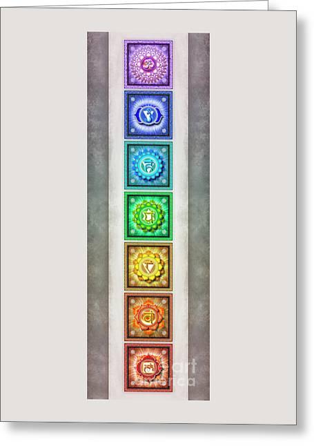 The Seven Chakras - Series 1 Artwork 2.2 Greeting Card