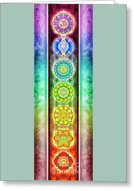 The Seven Chakras - Series 3 Artwork 1.1 Greeting Card