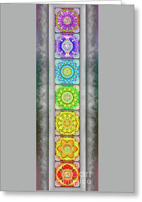 The Seven Chakras - Series 3 Artwork 2.2 Greeting Card
