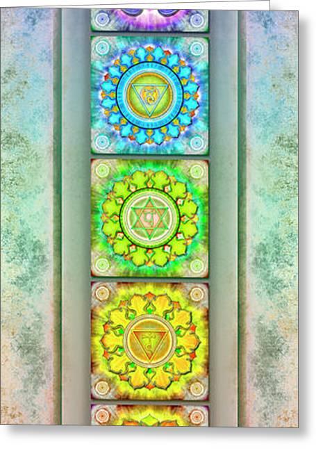 The Seven Chakras - Series 3 Artwork 2.3 Greeting Card