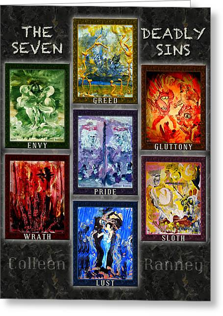 The Seven Deadly Sins Greeting Card