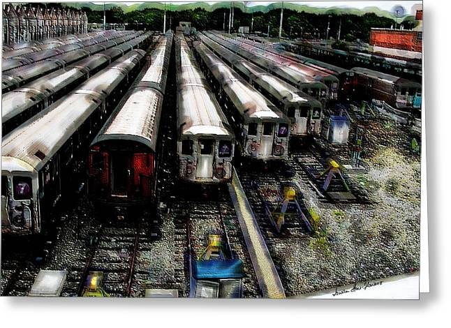 The Seven Train Yard Queens Ny Greeting Card