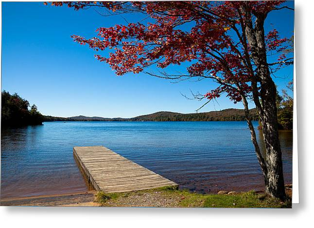 The Seventh Lake Boat Ramp Greeting Card by David Patterson