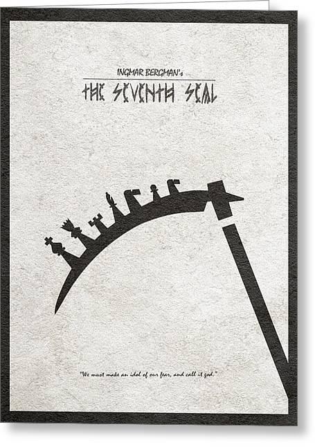 Greeting Card featuring the digital art The Seventh Seal Aka Det Sjunde Inseglet by Ayse Deniz