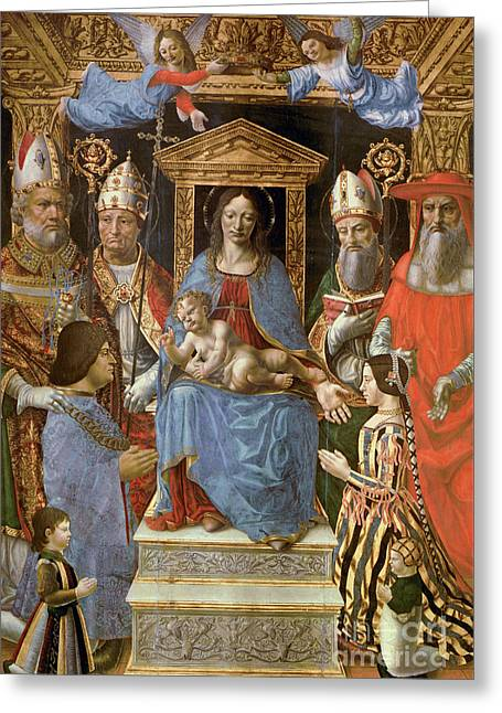 The Sforza Altarpiece Greeting Card