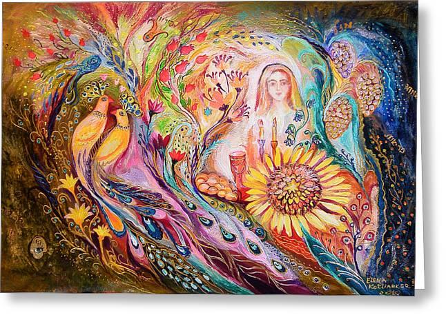 The Shabbat Queen Greeting Card by Elena Kotliarker