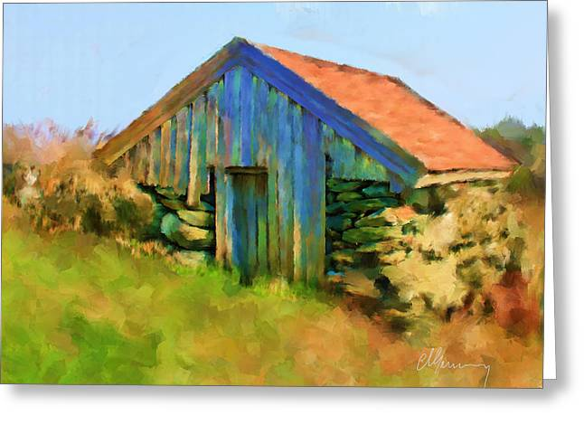 The Shack Greeting Card by Michael Greenaway