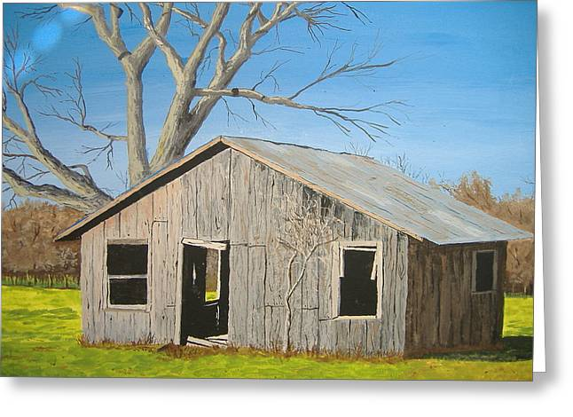 Arkansas Paintings Greeting Cards - The Shack Greeting Card by Norm Starks