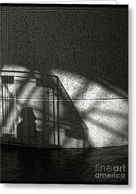 The Shadow Of A Man Greeting Card