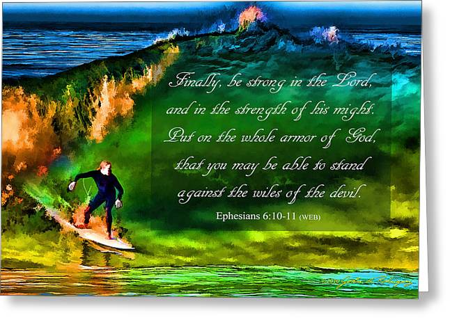 Greeting Card featuring the photograph The Shadow Within With Bible Verse by John A Rodriguez