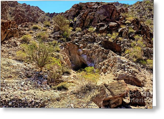 Greeting Card featuring the photograph The Shafted Mine by Robert Bales