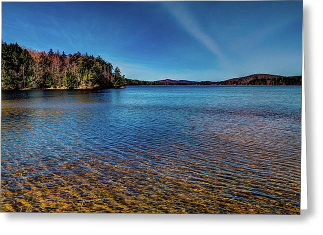 The Shallow Water Of 7th Lake Greeting Card