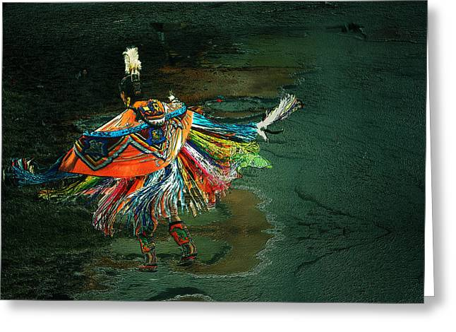 The Shaman Greeting Card by Irma BACKELANT GALLERIES