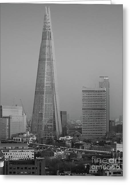 The Shard, London Greeting Card by Perry Rodriguez