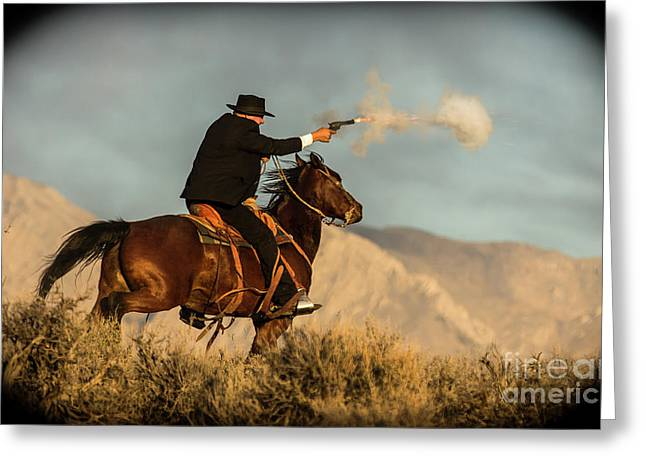 The Sharp Shooter Western Art By Kaylyn Franks Greeting Card