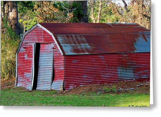 The Shed Greeting Card by Betty Northcutt