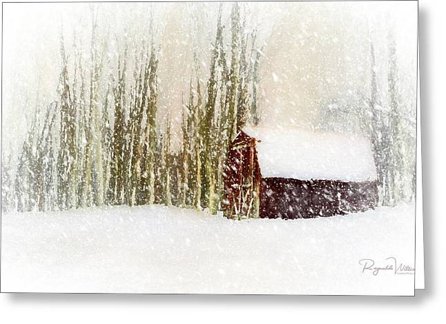 The Shed In The Blizzard Greeting Card