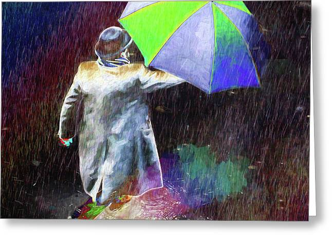 Greeting Card featuring the photograph The Sheer Joy Of Puddles by LemonArt Photography