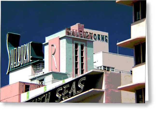 Photographers Duluth Greeting Cards - The Shelborne Hotel Miami Florida Greeting Card by Corky Willis Atlanta Photography