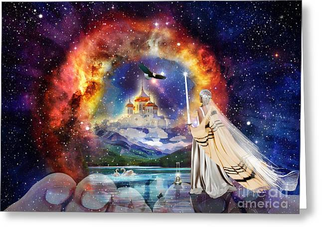 The Shelter Of Gods Love Greeting Card by Dolores Develde