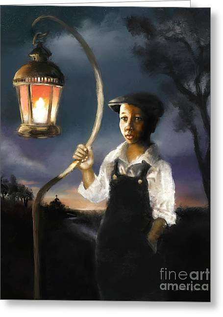 Greeting Card featuring the digital art The Shepherd  by Dwayne Glapion