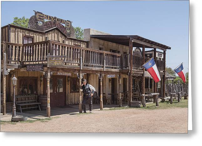 The Sheriff In Town At The Enchanted Springs Ranch And Old West Theme Park Greeting Card