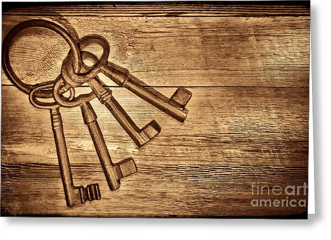 The Sheriff Jail Keys Greeting Card