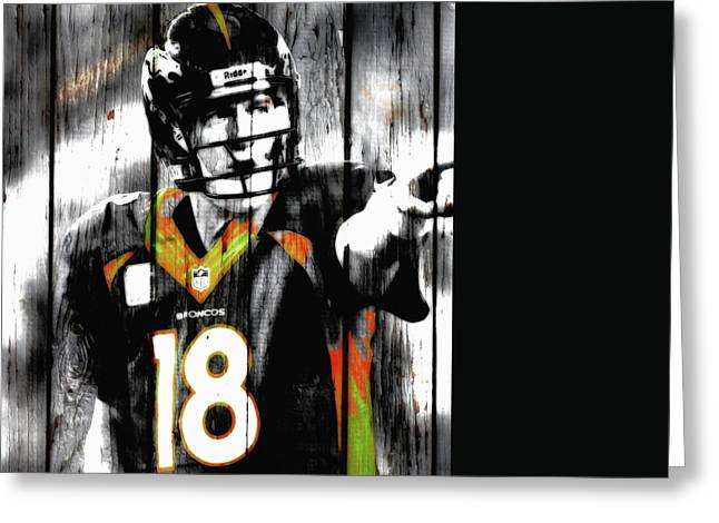 Peyton Manning Last Rodeo Greeting Card by Brian Reaves