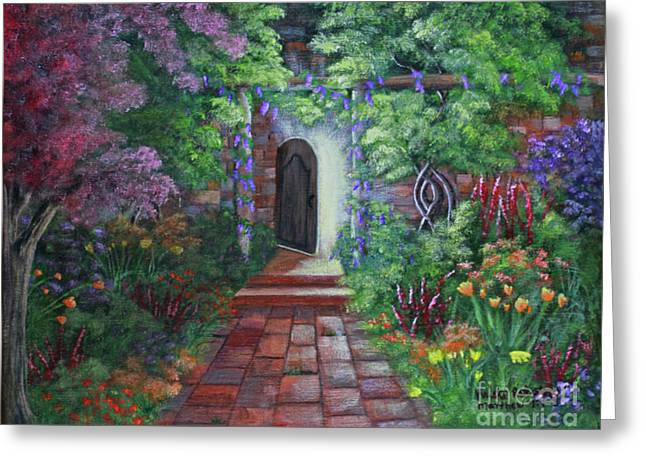 Greeting Card featuring the painting The Shining Light by Kristi Roberts