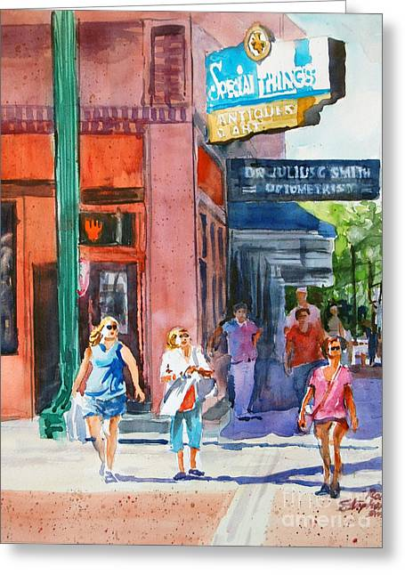 The Shoppers Greeting Card by Ron Stephens