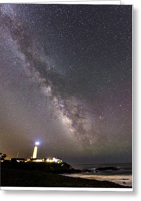 Greeting Card featuring the photograph The Shore Of Night by Alex Lapidus