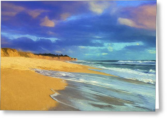 The Shoreline At Half Moon Bay Greeting Card