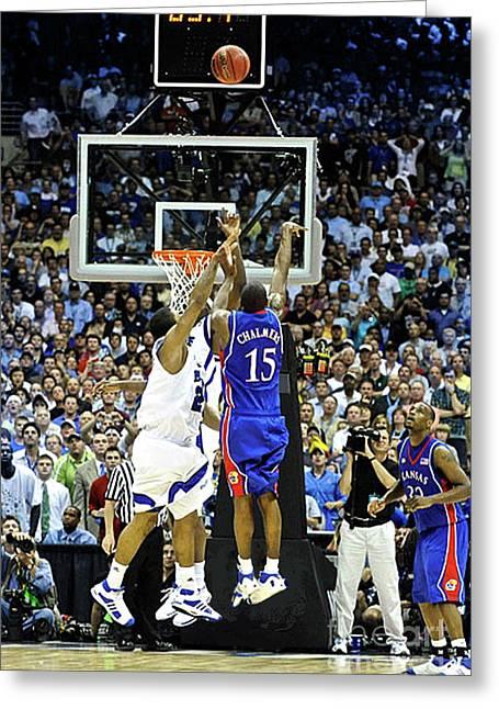 The Shot, 3.1 Seconds, Mario Chalmers Magic, Kansas Basketball 2008 Ncaa Championship Greeting Card