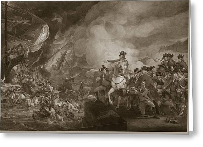 The Siege And Relief Of Gibraltar Greeting Card by John Singleton Copley