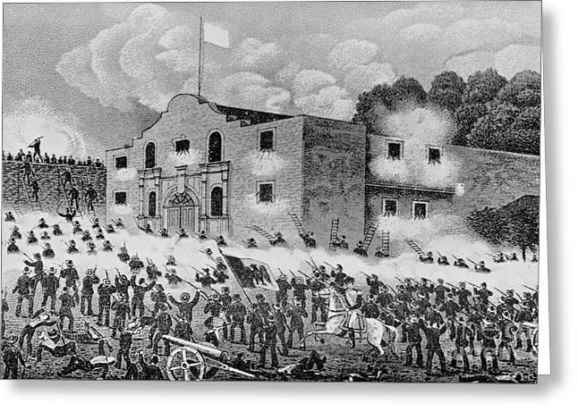 The Siege Of The Alamo Greeting Card by American School