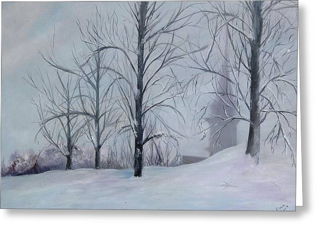 The Silence Of Snow Greeting Card by Betty Pimm