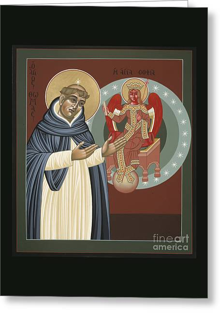The Silence Of St Thomas Aquinas 097 Greeting Card