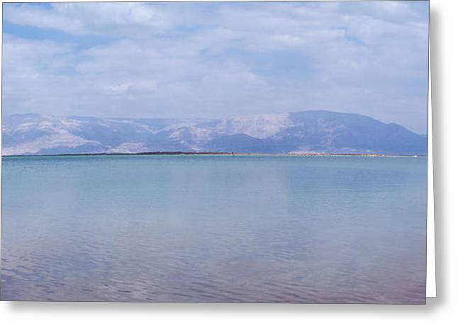 Greeting Card featuring the photograph The Silence Of The Dead Sea by Yoel Koskas