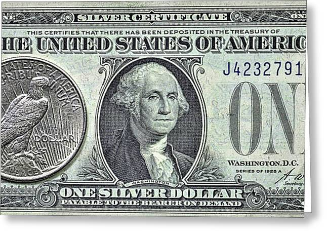 The Silver Certificate Greeting Card by JC Findley