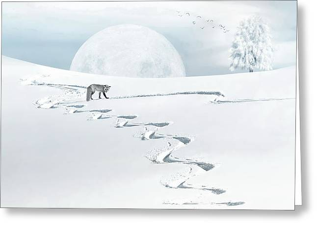 The Silver Fox Greeting Card