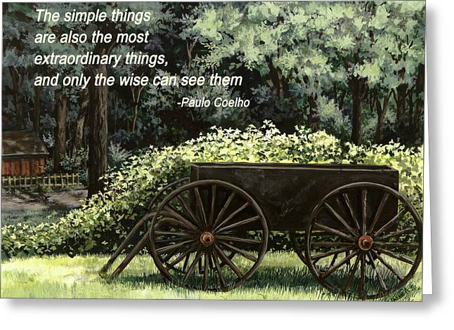 The Simple Things Greeting Card