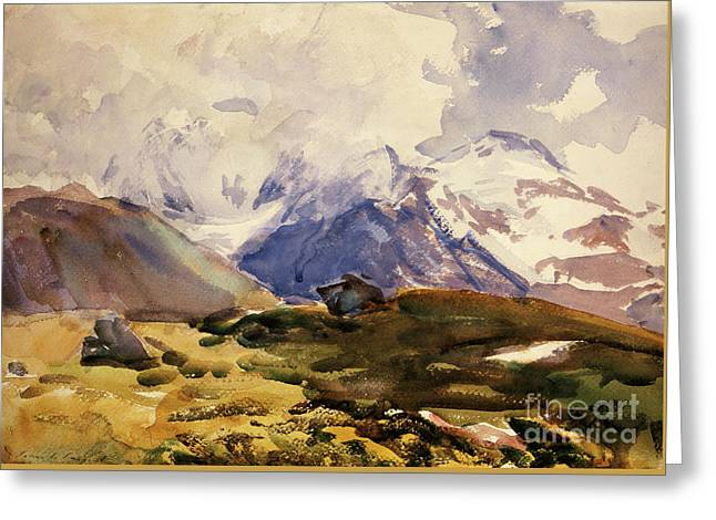 The Simplon Greeting Card by John Singer Sargent