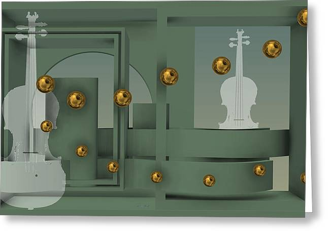 The Singular Song With Gold Balls Greeting Card