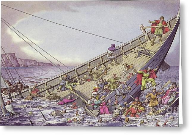 The Sinking Of The White Ship Greeting Card