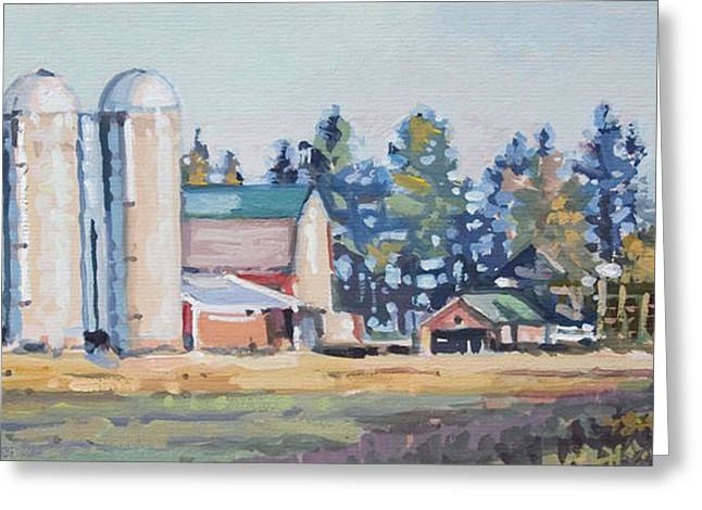 The Sipple Farm Greeting Card by Larry Seiler