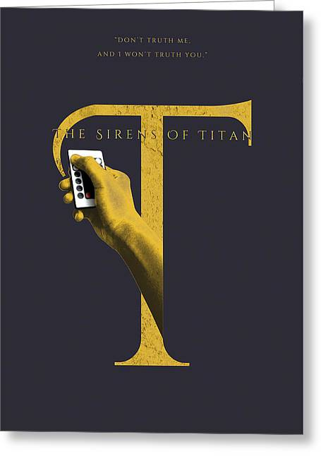 The Sirens Of Titan, Kurt Vonnegut Greeting Card by Connor Sorhaindo