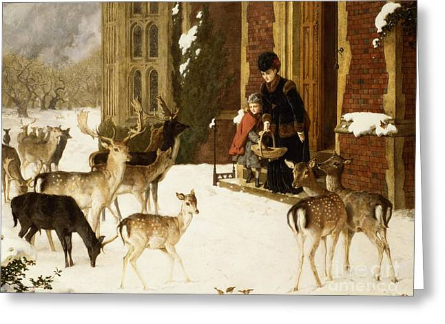Xmas Paintings Greeting Cards - The Sisters of Charity Greeting Card by Charles Burton Barber